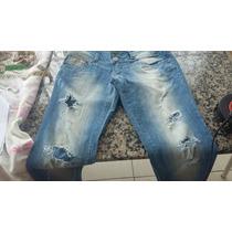 Calça Feminina Jeans Marca Dzarm Destroyed Usada Tamanho 38