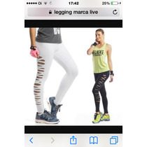 Calça Legging Destroyed Live! Academia Ginástica