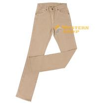 Calça Jeans Masculina Cowboy Cut Camelo Com Elastano - Tassa