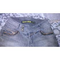 Calça Jeans Feminina Com Aplicações Strass E Pedras Cod-83