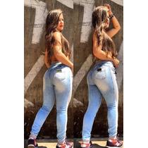 Calça Jeans Moletom Moleton Feminina Lisa - Qualidade