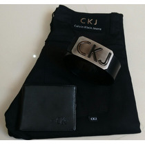 Kit Calvin Klein Jeans Calça Carteira E Cinto Oferta Frete G