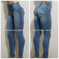 Calça Jeans Sawary Hot Pants Cintura Alta Com Elastano !!!!
