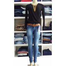 Kit 5 Calças Jeans Skinny Marca Vilejack Frete Grátis