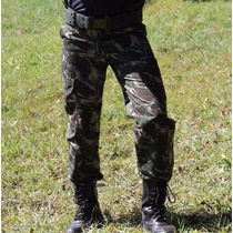 Calça Camuflada Masculina Cargo Exército Rip Stop