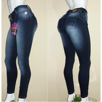 Calça Jeans Feminina Com Elastano . Tam 36 Ao 46 .