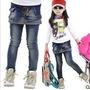 Calça Infantil Menina Jeans Fashion Importada Pronta Entreg
