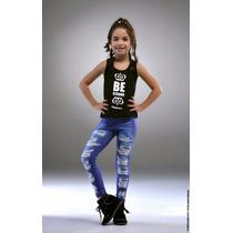 Calça Legging Jeans Tal Mãe Tal Filha - Lipsoul Girls