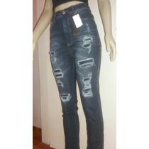 Calças Jeans Rasgada Cintura Alta Revanche