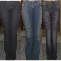 Lote Com Tres Calça Jeans Feminina 42 Cintura Alta