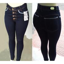 Calça Jeans Cintura Alta Com Elastano Linda Com Strech