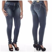 Calça Sawary Jeans Modela E Levanta Bumbum Cintura Média