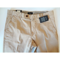 Calça Chino Slim Stretch Gant Butter Tam. 44 (34w/34l Usa)