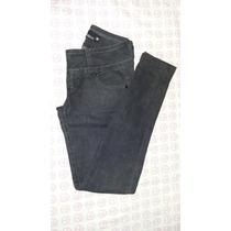 Calça Jeans Skinny Escura Clock House Com Lycra Tam 38 Usada