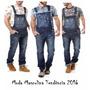 Macacão Jardineira Masculina Jeans Plus Size