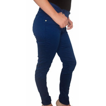 Calça Jeans Com Lycra Hot Pants Justa Azul