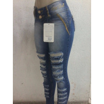 Calça Feminina Jeans Azul Pitbull - Modelo Novo - Cod036