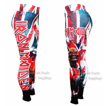 Calça Legging Leg Iron Maiden Estampada Heavy Metal Anos 80
