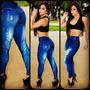 Calça Legging Estampa Jeans(2 Modelo Imagem Real Do Produto)