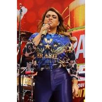 Calça Feminina Legging Cós Alto Disco Hot Pants Plus Size