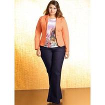Calça Jeans Plus Size - Feminina ( Roupa Tamanhos Grandes )