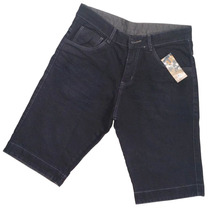 Bermuda Masculina Jeans Preta Em 12x * Oferta Imbatível