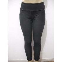 Calça Leg Preta Tam G Imita Jeans Elastico Atrás Bom Estado