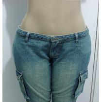 Calça Jeans Feminina Marca Bivick Tam. 42 S/ Strech Tt