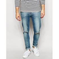 Calça Jeans Premium Masculina Rasgos Skinny Com Lycra Offert