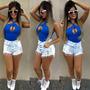 Shorts Jeans Hot Pants Sal E Pimenta Spike Sj044