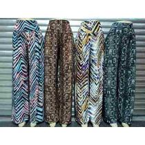 Lote Com 10 Calças Pantalona Liganete-malha Fria-atacado