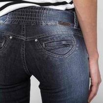Jeans Sawary Cós Largo C/ Elástico E S/ Bolsos Tam.44 E 46