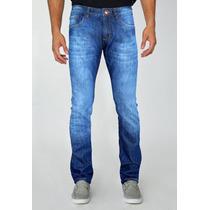 Calça Jeans Skinny Indecent Azul Estilo Slim Fit
