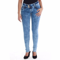 Calça Jeans Feminina Sawary Cos Largo Levanta Bumbum