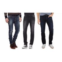 Lote Com 3 Calça Jeans Masculina Skinny Lycra-grandes Marcas