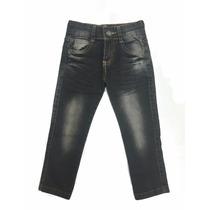 Calça Jeans Infantil Menino Ajuste Cintura Tamanhos 1, 2, 3