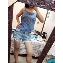Kit Blusinha E Short De Jeans Moda Feminina