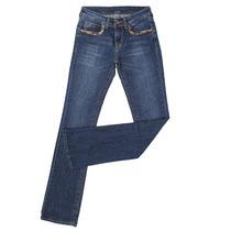 Calça Jeans Feminina Com Elastano E Detalhes Nos Bolsos - Wr