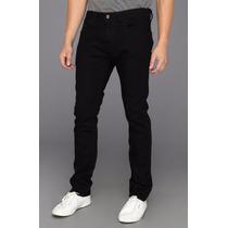 Calça Jeans Preta Masculina Sarja Skinny Stretch