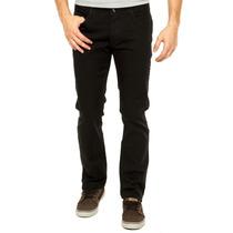 Calça Jeans Masculina Sarja Preta Lycra Stretch 36 - 46