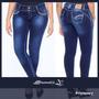 Calça Jeans Sawary Modela E Levanta Bumbum C/ Bojos