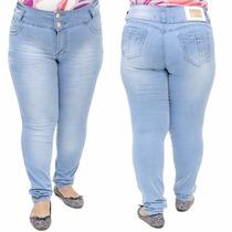 Calça Jeans Legging Feminina Hevox Clara Plus Size 46 Ao 54