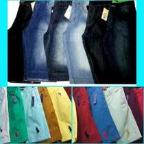 Kit C/2 Bermuda Jeans Quiksilver, Hollister E Outras