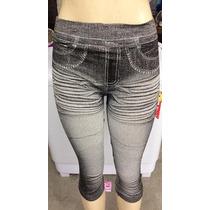 Calça Legging Estampa Jeans Melhor Preço Tam. Unico