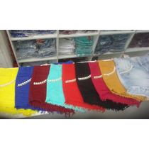 Kit Com 6 - Saias Jeans Feminina Bico Sawary Super Promoção