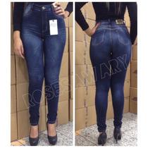 Calça Sawary Jeans Hot Pants Cintura Alta Levanta Bumbum