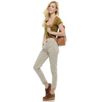 Calças (feminino) - High Waist Chino Trouser With Pocket Det