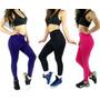 Kit Com 3 Calças Legging Suplex Saia Tapa Bumbum Fitness