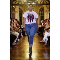 Legging De Tecido Jeans Claro Plus Size