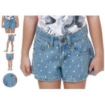 Shorts Jeans Com Bordados - Tam 2! Novo
